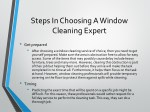 steps in choosing a window cleaning expert 1