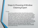 steps in choosing a window cleaning expert