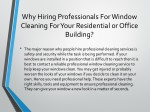 why hiring professionals for window cleaning