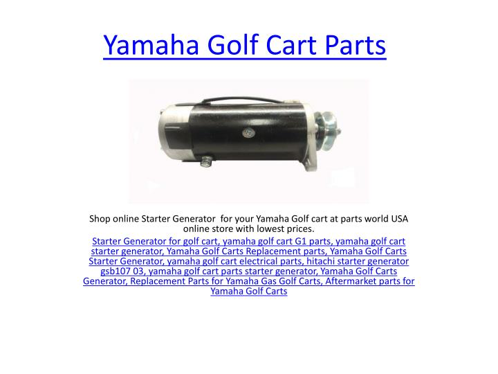 yamaha golf cart parts n.