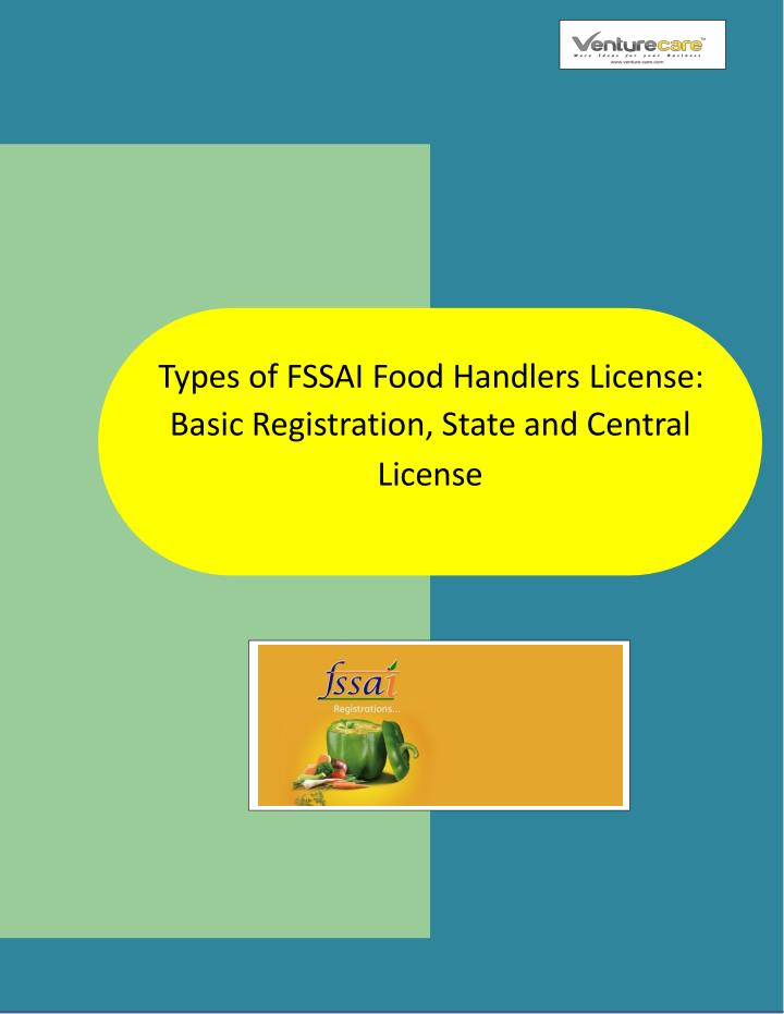 types of f ssai food handlers l icense basic n.