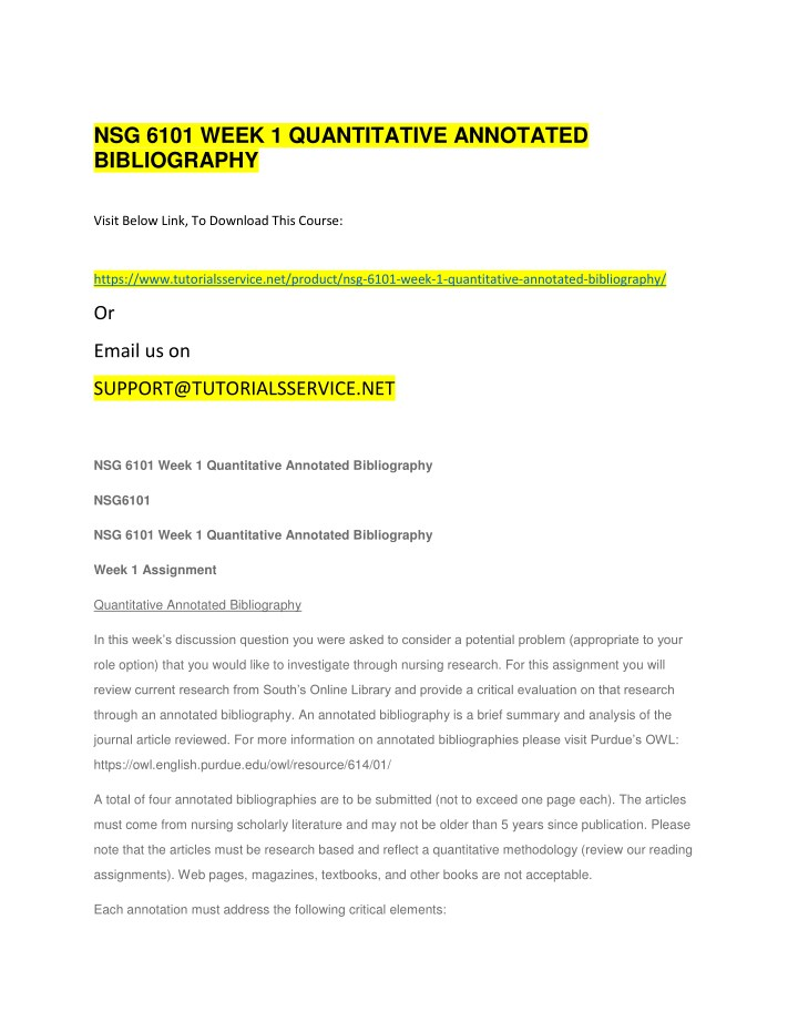 nsg 6101 week 1 quantitative annotated n.