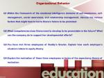 organizational behavior q1 within the framework
