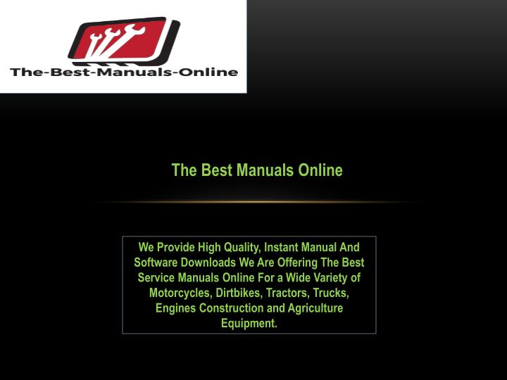 the best manuals online n.
