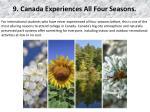9 canada experiences all four seasons