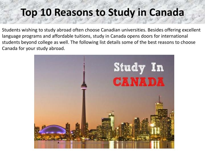 top 10 reasons to study in canada n.