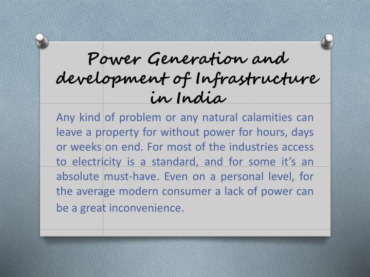 power generation and development of infrastructure in india n.