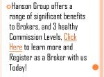 hanson group offers a range of significant