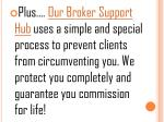plus our broker support hub uses a simple