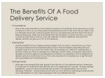 the benefits of a food delivery service