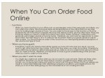 when you can order food online