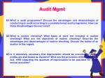 audit mgmt q1 what is audit programme discuss