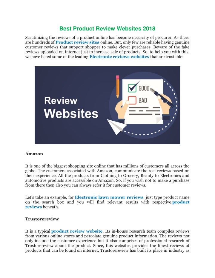 best product review websites 2018 n.