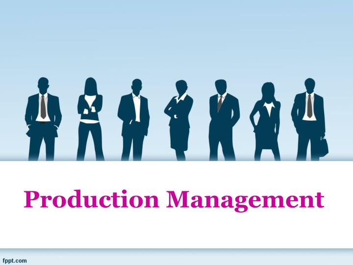 production management n.