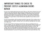 important things to check to prevent costly