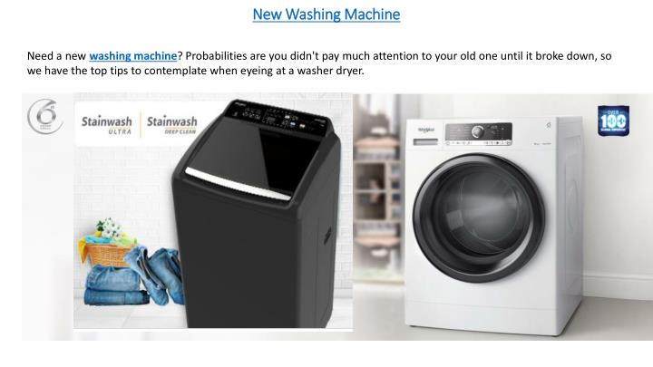 new washing machine n.