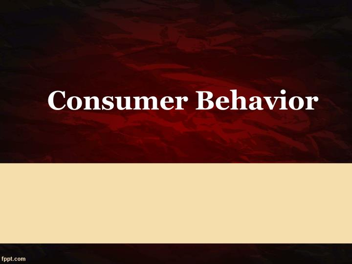 consumer behavior n.