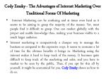 cody emsky the advantages of internet marketing over traditional forms of marketing 1
