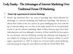 cody emsky the advantages of internet marketing over traditional forms of marketing 5