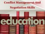 conflict management and negotiation skills
