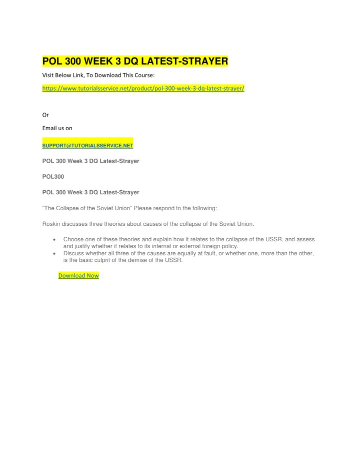 pol 300 week 3 dq latest strayer n.