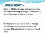 1 build trust