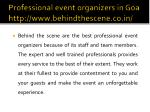 professional event organizers in goa http www behindthescene co in 5