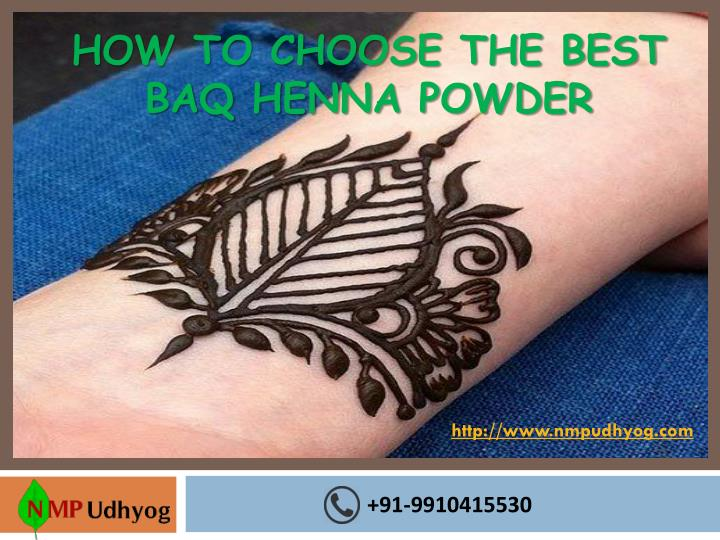 how to choose the best baq henna powder n.