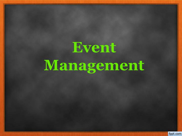 event management n.