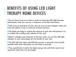 benefits of using led light therapy home devices