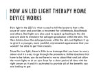 how an led light therapy home device works 1