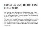 how an led light therapy home device works