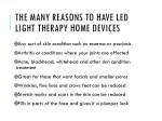 the many reasons to have led light therapy home