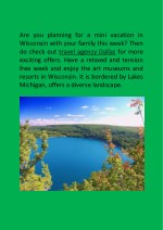 are you planning for a mini vacation in wisconsin