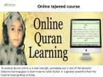online tajweed course
