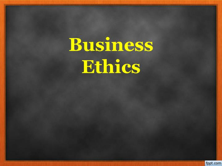 business ethics n.