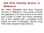 acid brick cleaning services in melbourne