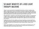 so many benefits of a red light therapy machine