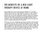 the benefits of a red light therapy device at home