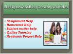 assignmenthelp7 com provides