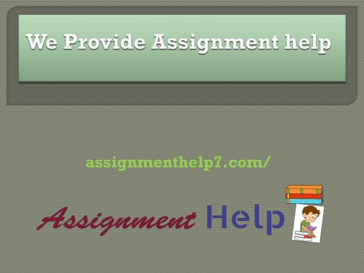 we provide assignment help n.
