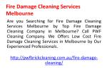 fire damage cleaning services melbourne 1