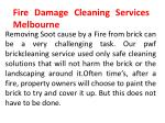 fire damage cleaning services melbourne
