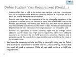 dubai student visa requirement contd 1