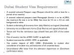 dubai student visa requirement