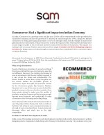 ecommerce had a significant impact on indian