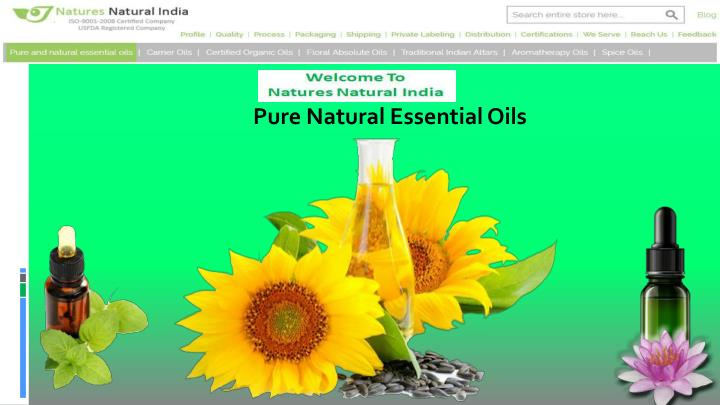 pure natural essential oils n.