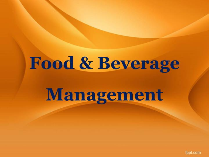 food beverage management n.