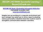 bscom 240 rank successful learning bscom240rank 9