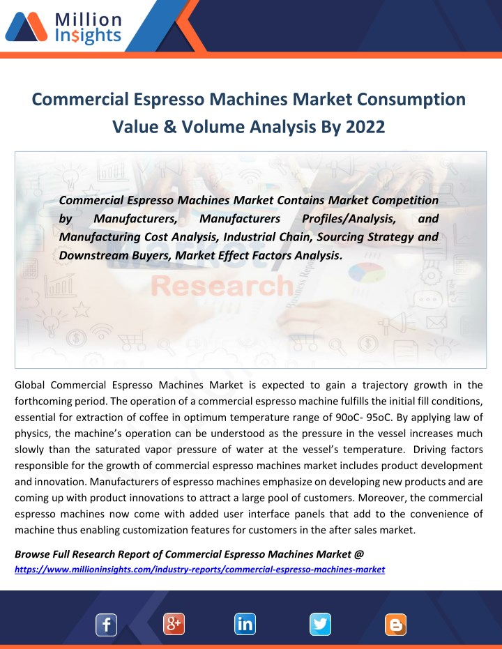commercial espresso machines market consumption n.